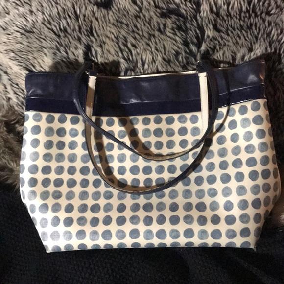 0a5d5ad4f266b0 Coach Handbags - Coach Leather Printed Tote, Patent Trim - XL